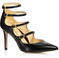 Mitchell Strappy Leather Mary Jane Pumps