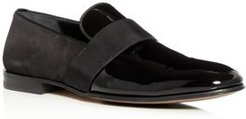 Bryden Suede & Patent Leather Smoking Slippers - Regular