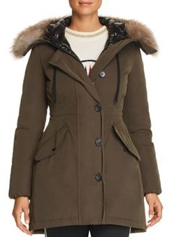 Monticole Fur Trim Down Coat