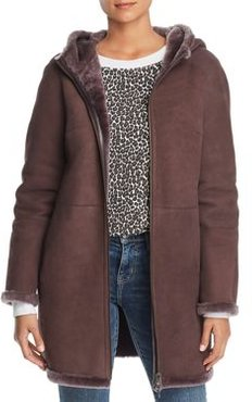 Hooded Suede & Lamb Shearling Coat - 100% Exclusive