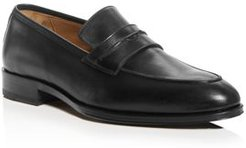 Titus Leather Apron-Toe Penny Loafers