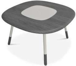 """Koval 54"""" Dining Table With Laquered Glass Top"""