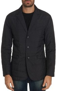Epstein Channel-Quilted Classic Fit Blazer