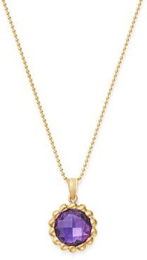 Amethyst Beaded Pendant Necklace 14K Yellow Gold, 18 - 100% Exclusive