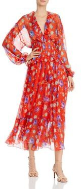 Abito Silk Printed Maxi Dress
