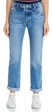 The Scrapper Cuff Frayed Ankle Jeans in Take Me Higher