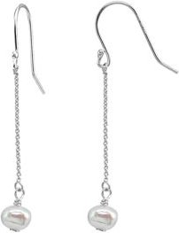 Cultured Freshwater Pearl Chain Drop Earrings - 100% Exclusive