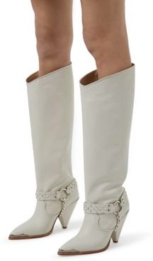 Pull On Embellished High Heel Boots
