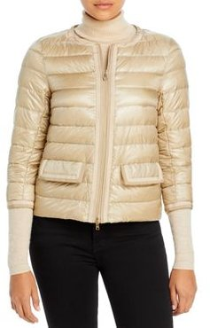 Two-Tone Trimmed Down Jacket