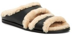 Iminan Shearling & Leather Slippers