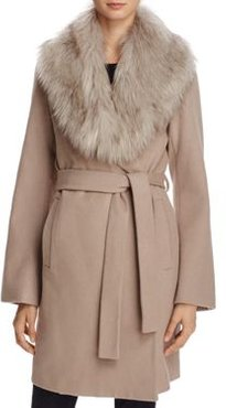 Flora Faux Fur Trim Wrap Coat