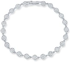 Pave Infinity Tennis Bracelet in 18K Gold-Plated Sterling Silver, 18K Rose Gold-Plated Sterling Silver or Platinum-Plated Sterling Silver