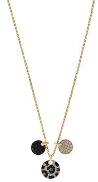 Black Brown & White Diamond Animal Print Necklace in 14K Yellow Gold 18 - 100% Exclusive