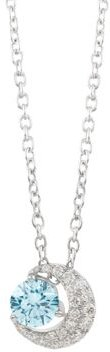 Blue Moon Lab-Grown Diamond Pendant Necklace in Sterling Silver, 18