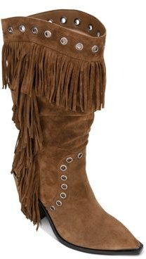 West Side Fringe Mid-Calf Boots
