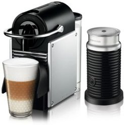 Pixie Espresso Machine by De'Longhi with Aeroccino Milk Frother