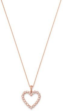Diamond Heart Pendant Necklace in 14K Rose Gold, 0.25 ct. t.w. - 100% Exclusive
