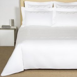 Luminescent Pearls Embroidery Duvet Cover, King