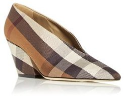 Brierfield Check Pointed Toe Pumps