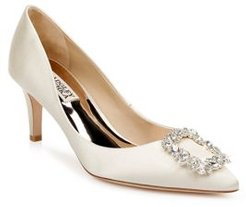 Carrie Crystal Embellished Kitten Heel Pumps