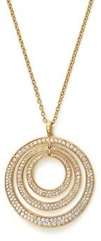 18K Yellow Gold Glamazon Stardust Three-Ring Concentric Necklace with Diamonds, 20.5