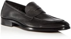 Johnson Leather Apron-Toe Penny Loafers