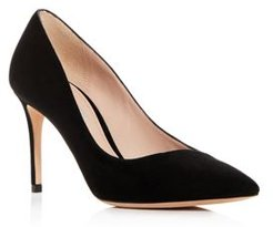 Giorgio Armani Women's Decolette Leather Pointed Toe Pumps