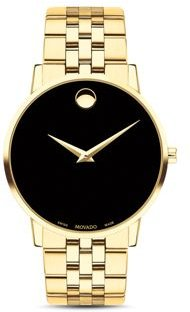 Museum Classic Yellow Gold-Tone Watch, 40mm