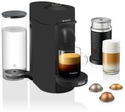 VertuoPlus by De'Longhi with Aeroccino Milk Frother, Black Matte, Limited Edition
