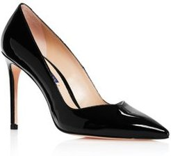 Anny Pointed-Toe Curved Pumps