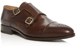 Romulus Leather Double Monk-Strap Loafers