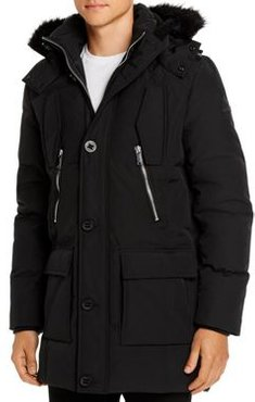 Faux Fur Trimmed Quilted Parka