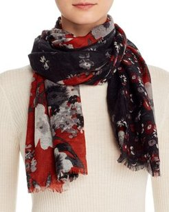 Floral Panel Scarf - 100% Exclusive