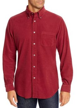 Dyed Corduroy Classic Fit Button-Down Shirt