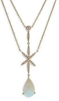 Opal & Diamond Double-Strand Necklace in 14K Yellow Gold, 18 - 100% Exclusive