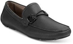 Front 4 Leather Slip On Driver Mocassins - Regular