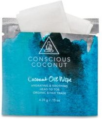 Organic Coconut Oil Wipes, 25 Count