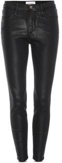 Le High Coated Skinny Jeans in Noir Coated