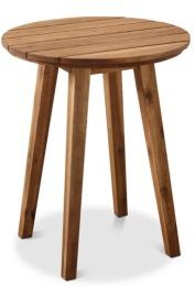 Harbor Outdoor Patio Wood Round Side Table