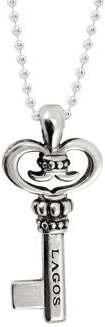 Signature Sterling Silver Key Pendant Necklace, 34