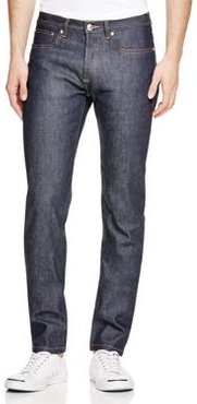 Petit Standard Straight Slim Fit Jeans in Indigo Stretch