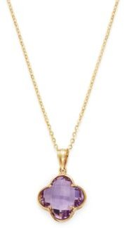 Amethyst Clover Pendant Necklace in 14K Yellow Gold, 18 - 100% Exclusive