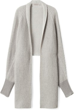 Ultrasoft Cashmere Stole with Sleeves Woman Grey Size ONE SIZE