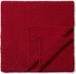 Knit Wool Scarf Woman Red Size ONE SIZE