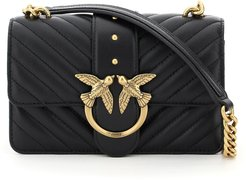 QUILTED ICON LOVE MINI BAG OS Black Leather
