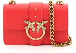 LOVE MINI ICON SIMPLY 4 BAG OS Red Leather