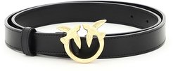 LOVE BERRY SMALL SIMPLY 3 BELT XS Black Leather