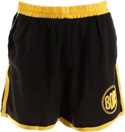 SHORTS WITH LOGO EMBROIDERY S/M Black, Yellow