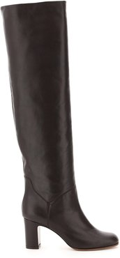HIGH NAPPA BOOTS 36 Brown Leather