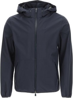 GORE-TEX HOODED JACKET 46 Blue Technical